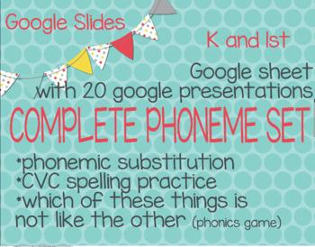 Google Slides for Phoneme Substitution (RTI, ESL, K, and 1st)