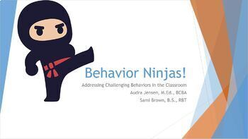 Google Slides presentation on Challenging Behaviors in the Classroom