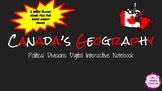 Google Social Studies Digital Interactive Notebook Canada's Geography
