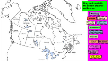 Google Social Studies Digital Interactive Notebook Canada's Geography