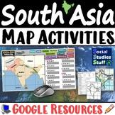 Google | South Asia Digital Map Practice Activities | India Region