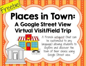 Visite virtuelle d'une ville française/Virtual visit & web