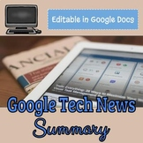 Google Technology News Article Summary - Online Distance Learning