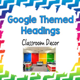 Google Themed Classroom Headings