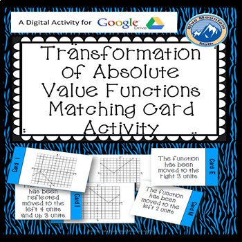 Google Transformations of Absolute Value Functions Plus Quiz  --