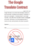 Google Translate Contract