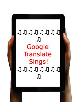 Google Translate Sings!
