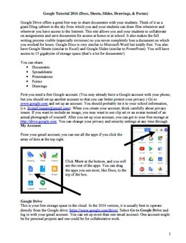 Google Tutorial for 2016 (Docs, Sheets, Slides, Drawings,