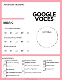 Google Voice Assessment Rubric