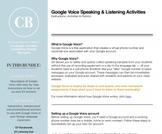 Google Voice: Speaking and Listening Activities Bundle