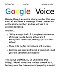Google Voice speaking activities and rubric