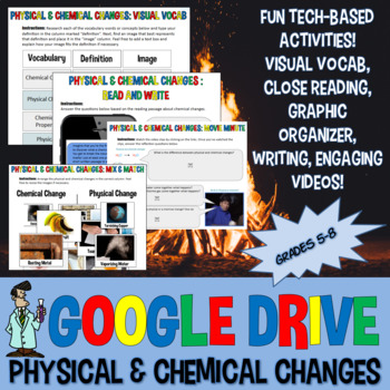 Google drive physical chemical change INB Jr High Science TX TEKS 6.5D, 7.6 8.5E
