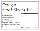 TEMPLATE: Google Email Etiquette! OR use to email characte