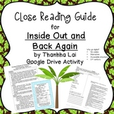 Inside Out And Back Again Writing Worksheets & Teaching