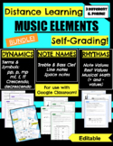 Google FORM Bundle for Music Theory, Distance L., Online,