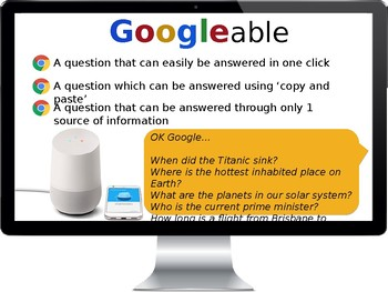 Googleable Vs Non-Googleable Questioning