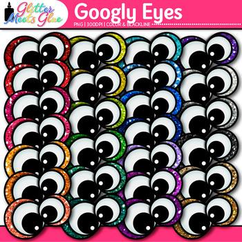 Googly Eyes Clip Art {Monster Eyeball Graphics for Close Reading, Brag Tags}
