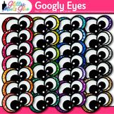 Googly Eyes Clip Art   Monster Eyeball Graphics for Halloween & Close Reading