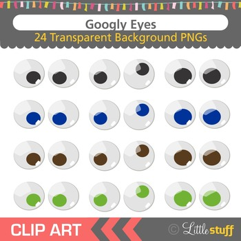 Googly Eyes Clipart, Jiggly Eyes Clip Art