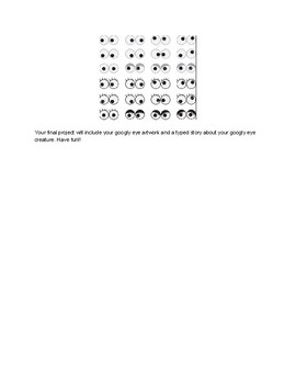 Googly Eyes Creative Writing Project