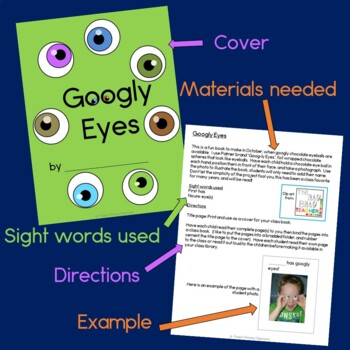 Googly Eyes Class Book with Sight Words