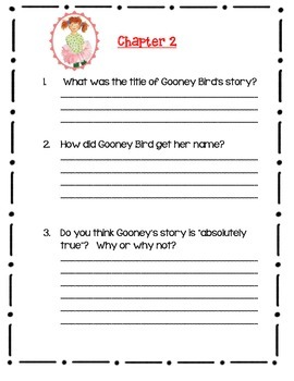 Gooney Bird Green, Lois Lowry - A Complete Book Response Journal
