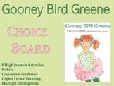 Gooney Bird Greene Choice Board Novel Study Activities Menu Book Project