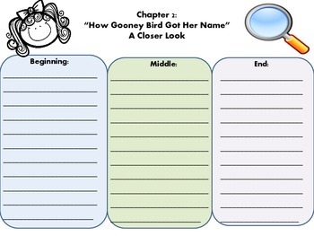 Gooney Bird Greene: Companion short story organizers