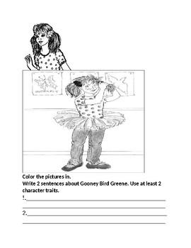 Gooney Bird Greene Internal and External Character Traits