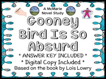 Gooney Bird Is So Absurd (Lois Lowry) Novel Study / Comprehension  (26 pages)