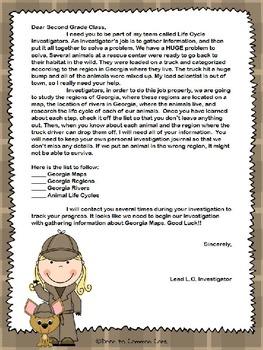 Gooney Bird on the Map 2nd Grade ELA CCGPS Unit 3 - WORKSHEETS