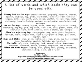 Gooney Bird on the Map and Other Stories Vocabulary Cards