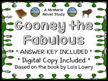 Gooney The Fabulous (Lois Lowry) Novel Study / Comprehension   (32 pages)