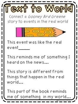 Gooney Bird Greene -Freebie!  Text Connections