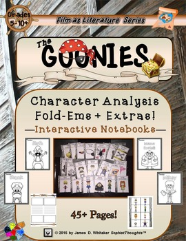 Goonies Film Character Analysis Mini Fold-Ems & Writing Templates