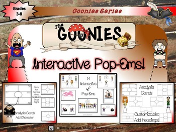 Goonies Film Character Analysis Pop-Ems