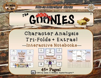Goonies Film Character Analysis Tri-Folds