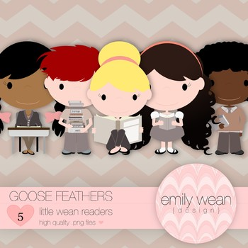 Goose Feathers - Little Readers Clip Art