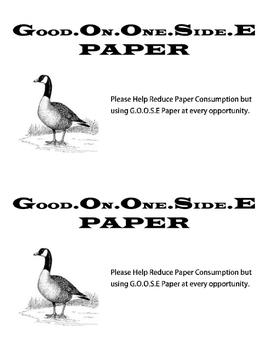 Goose Paper Label