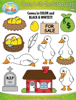 Goose With the Golden Eggs Famous Fables Clipart {Zip-A-Dee-Doo-Dah Designs}