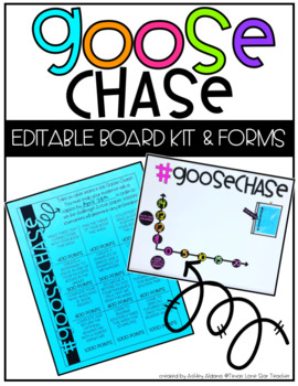 GooseChase EDITABLE Board Kit and Forms