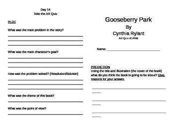 Gooseberry Park Literature Unit