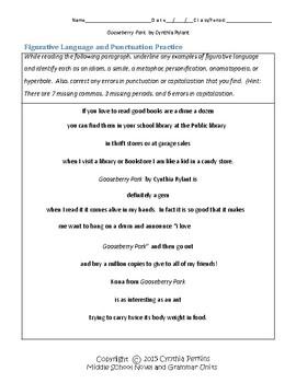 Gooseberry Park Complete Literature and Grammar Unit