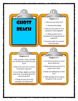 Goosebumps GHOST BEACH * Discussion Cards