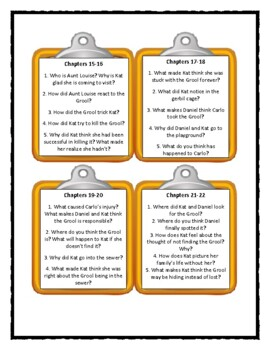 Goosebumps IT CAME FROM BENEATH THE SINK - Discussion Cards