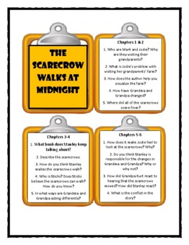 Goosebumps THE SCARECROW WALKS AT MIDNIGHT - Discussion Cards