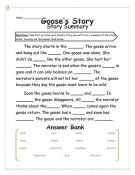 Goose's Story - Story Summary - 2nd Grade Treasures