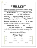 Goose's Story - Story Summary - 2nd Grade Treasures