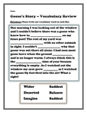 Goose's Story Vocabulary Review Sheet - 2nd Grade Treasures