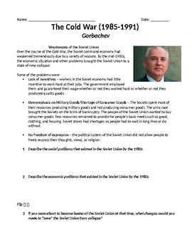 Gorbachev Glasnost and Perestroika